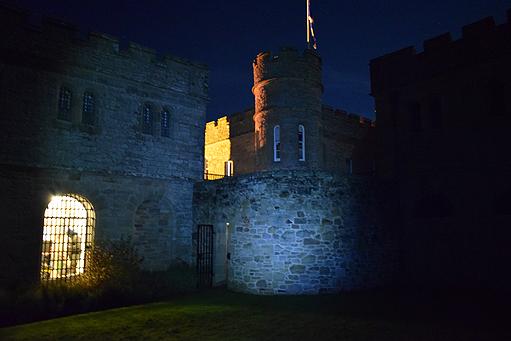 The jail at night